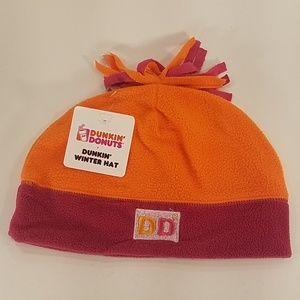 NWT Dunkin Donuts Winter Hat, Beanie. DD.